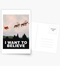 Ich möchte glauben, X-Files Parodie Postkarten