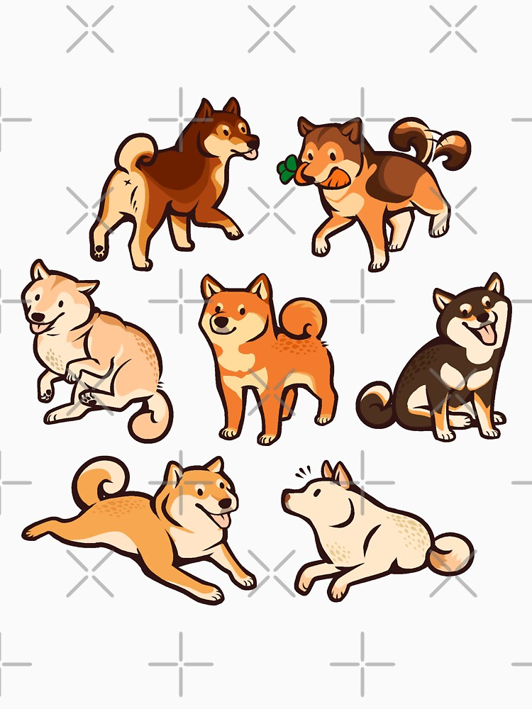 shibes in cream by Colordrilos