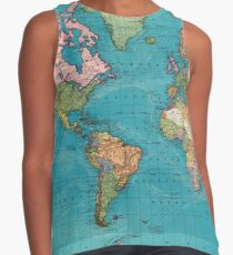 Vintage Map of The World (1897) Sleeveless Top