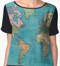 Vintage Map of The World (1897) Chiffon Top