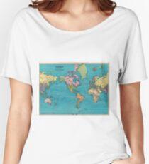 Vintage Karte der Welt (1897) Loose Fit T-Shirt