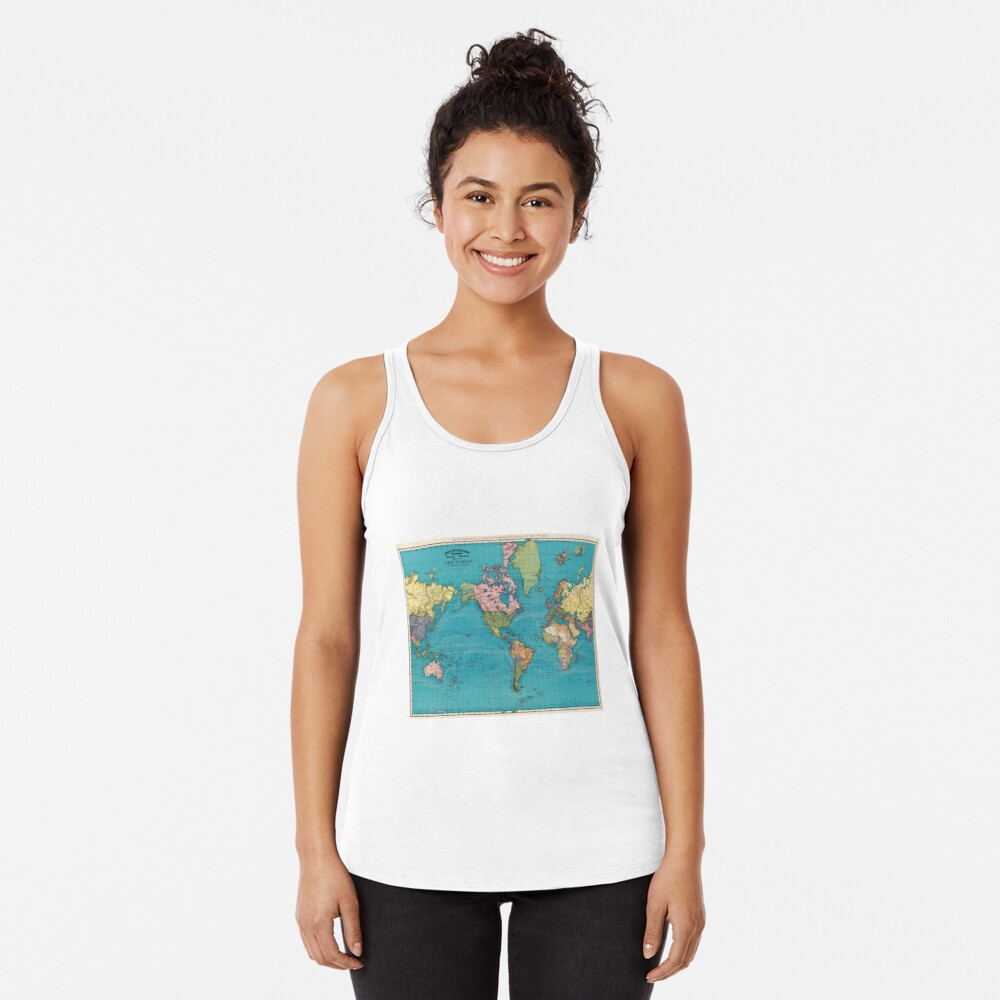 Vintage Map of The World (1897) Racerback Tank Top