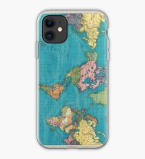 Vintage Map of The World (1897) iPhone Case