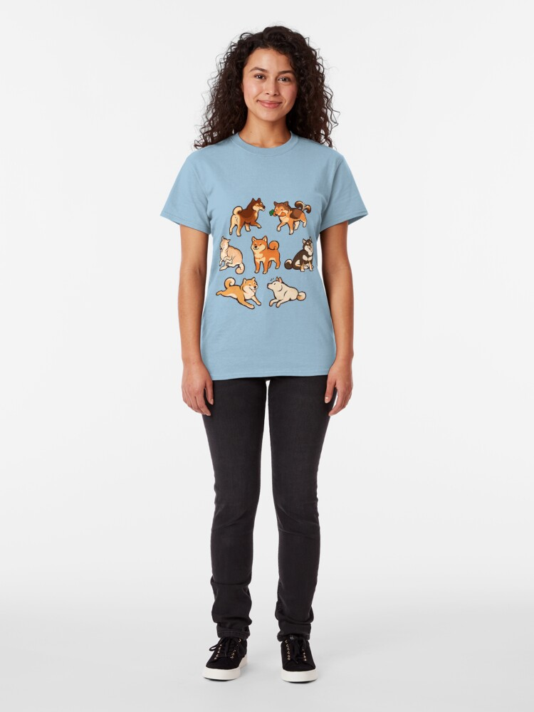 Alternate view of shibes in blue Classic T-Shirt