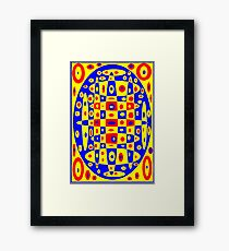 Red Blue Yellow -2 Framed Print