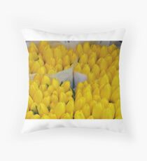 Dutch tulips in Ljubeljana - Slovenia Throw Pillow