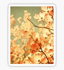 Vintage Pink Spring Flowers Sticker