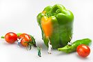 Vegetable Painting Little People On Food by Paul Ge