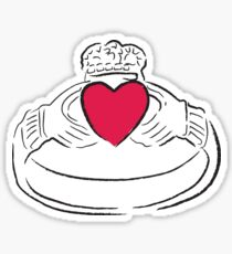 Claddagh Ring - A Token of Love Sticker