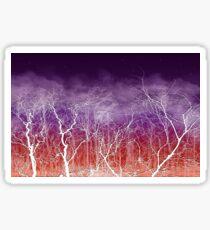 Sunset White Trees Sticker