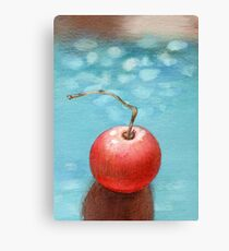 Hand drawn red tomato Canvas Print