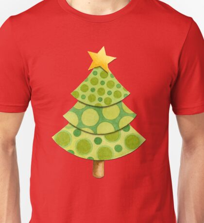 Polka Dot Christmas Lattice Design T-Shirt