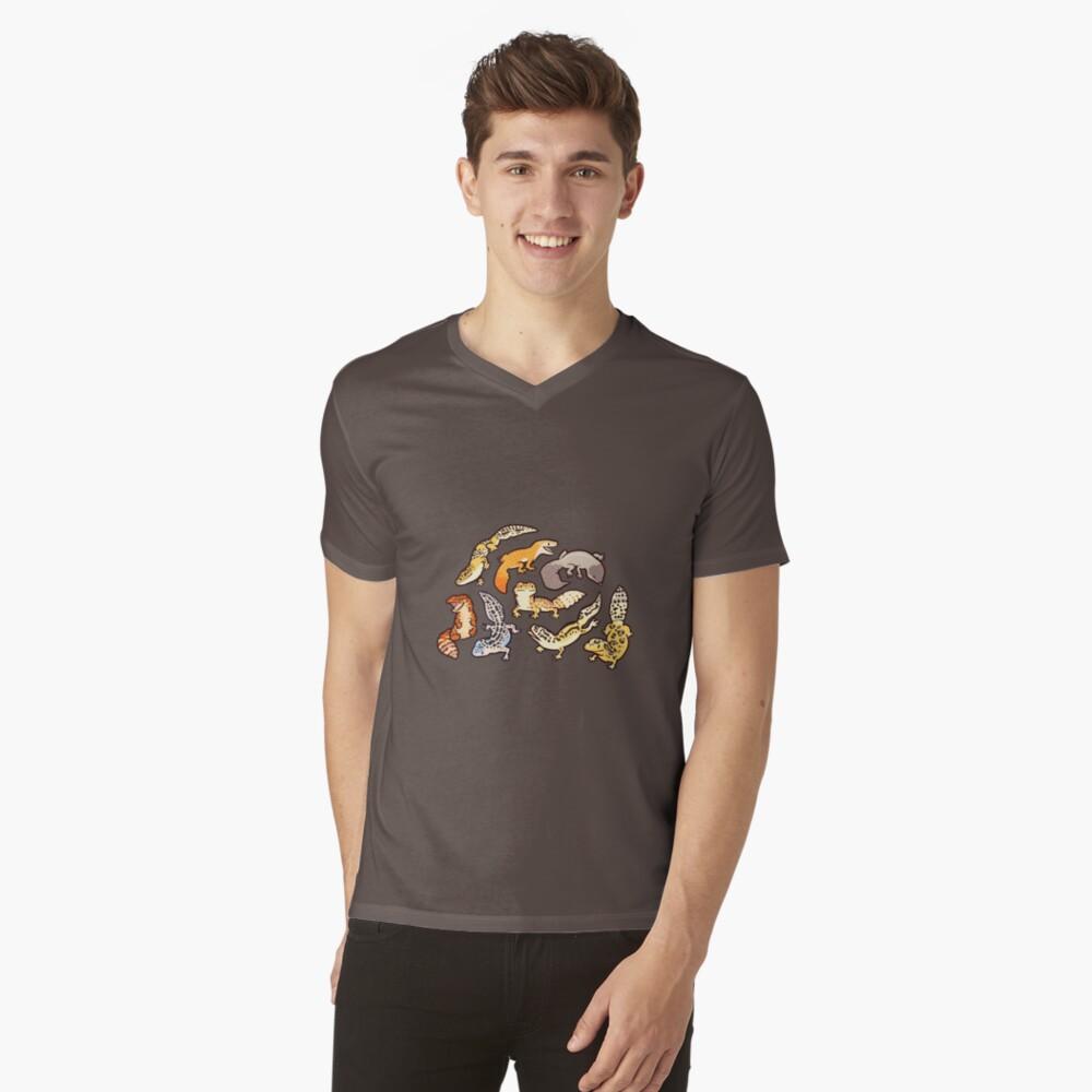 chub gecko babies V-Neck T-Shirt