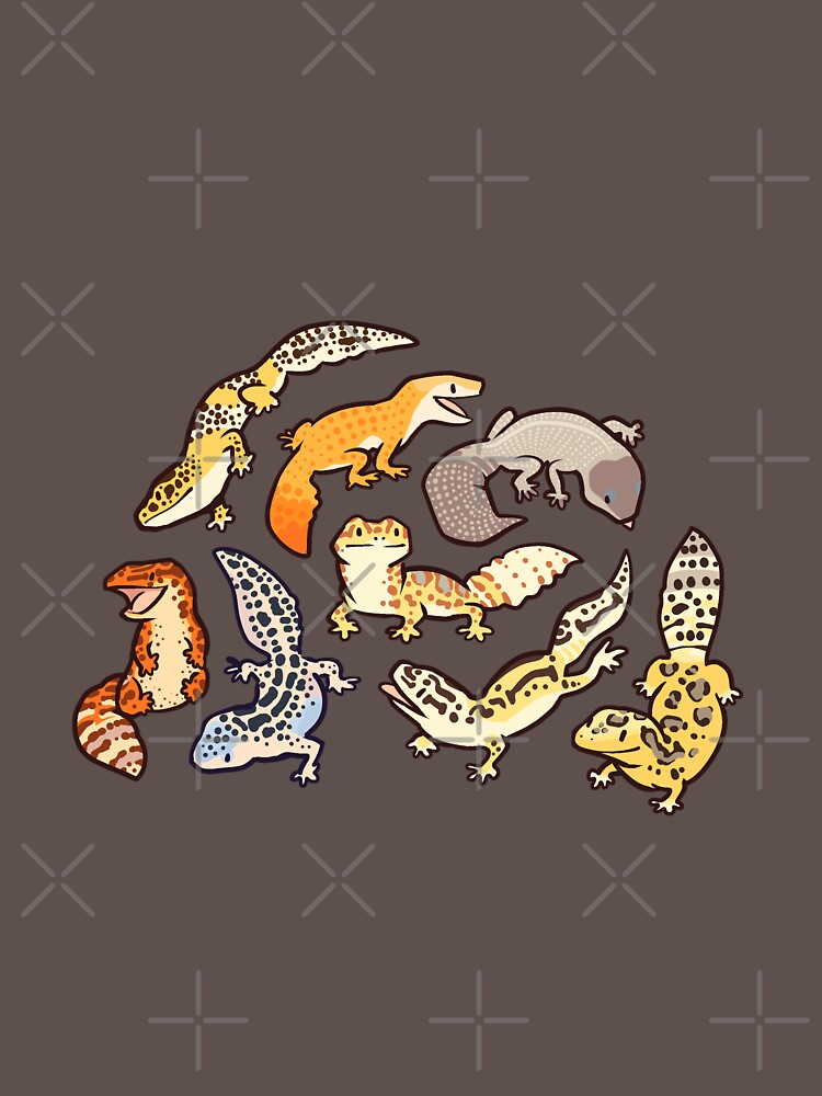 chub gecko babies by Colordrilos
