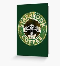 Starbrook Coffee Grunge Greeting Card