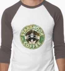 Starbrook Coffee Grunge Men's Baseball ¾ T-Shirt