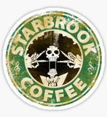 Starbrook Coffee Grunge Sticker