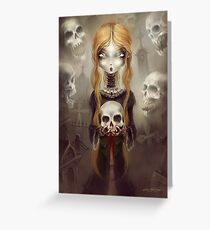 Black Widow by Élian Black'Mor Greeting Card