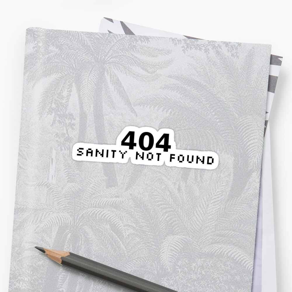 404 Sanity Not Found by ngwoosh