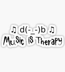Music is therapy Sticker