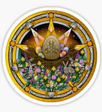 Sabbat Pentacle for Ostara the Spring Equinox Sticker