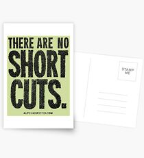 There Are No Short Cuts Black Text Quote T-shirts & Homewares Postcards