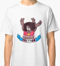 smoky quartz they/them Classic T-Shirt