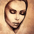 Female face drawing  by granados602
