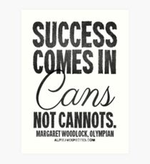 Canned Success Black Text T-shirts & Homewares Art Print