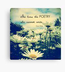 Poetic Life Canvas Print