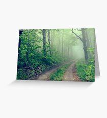Woodland Fog Greeting Card