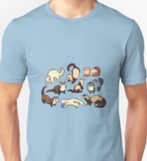 cat snakes in blue Unisex T-Shirt
