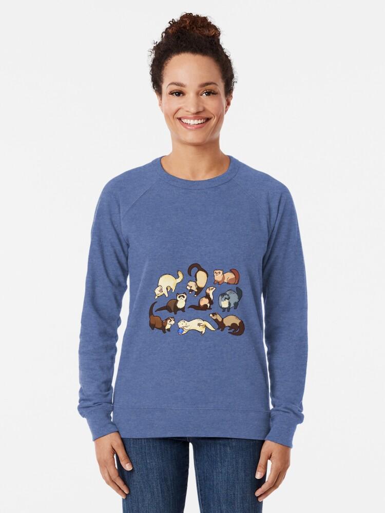Alternative Ansicht von Katzenschlangen in blau Leichter Pullover
