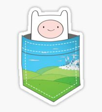 Peeping Pocket Finn - Adventure Time Sticker