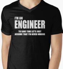 Engineer Men's V-Neck T-Shirt