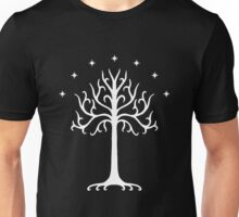 The White Tree of Gondor (white) Unisex T-Shirt