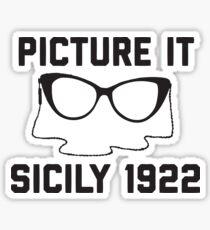 Picture It Sicily 1922 Sticker