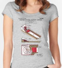 Skee Ball Patent - Colour Women's Fitted Scoop T-Shirt