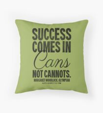 Canned Success Black Text T-shirts & Homewares Throw Pillow