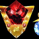 The 3 Spiritual Stones Ocarina of Time by barrettbiggers