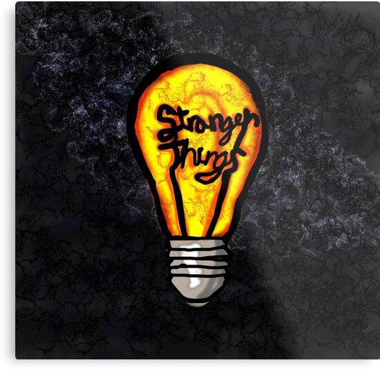 Quot Stranger Things Light Bulb Quot Metal Print By Audrieb