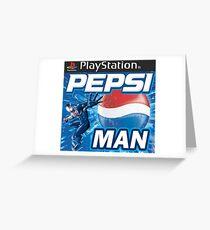 Pepsi Man Video Game Greeting Card