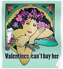 Bob Dylan Lyrics Music Inspired Vintage Girl Art Poster