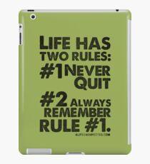 Rules of Life Black Text T-shirt & Homewares iPad Case/Skin