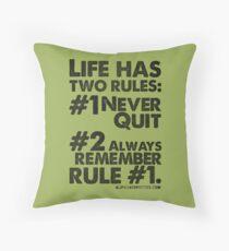 Rules of Life Black Text T-shirt & Homewares Throw Pillow