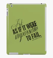 Impossible To Fail Black Text Quote T-shirts & Homewares iPad Case/Skin