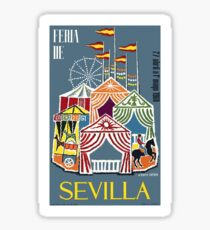 Spain 1960 Seville Festival Poster Sticker
