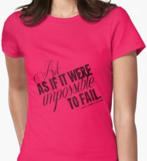 Impossible To Fail Black Text Quote T-shirts & Homewares Women's Fitted T-Shirt