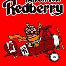 Baron Von Redberry red background by J. Stoneking