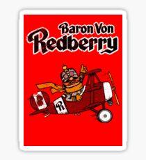 Baron Von Redberry red background Sticker